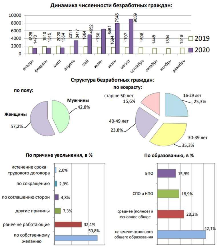 В Кургане за год число безработных катастрофически выросло. ИНФОГРАФИКА