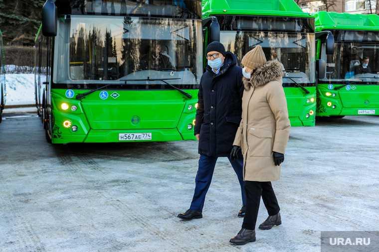 Презентация новых автобусов на газомоторном топливе. Челябинск