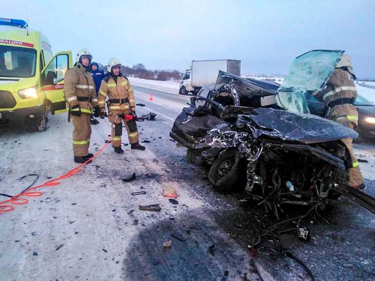 На курганской трассе произошло смертельное ДТП. «Двигатель вылетел на обочину». Фото