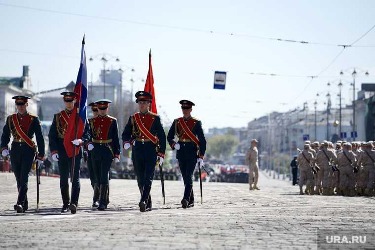 перекрытие Екатеринбург парад 9 Мая репетиция пробки центр